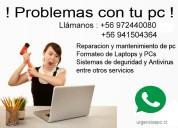 Servicio tecnico pc computadores notebook urgencias santiago centro