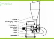 Molino meelko de acero inoxidable para harinas de consumo humano - mkcf450
