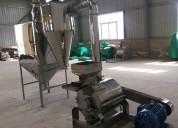 Molino de acero inoxidable para harina 150-300 kg hora consumo humano.