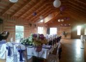 Salón de eventos frente al lago lanalhue
