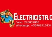 Electricista, atendemos todas las comunas de santiago