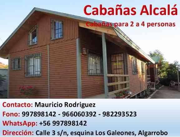 Cabañas en Algarrobo