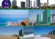 Arriendo dpto agua marina 1d amoblado frente a playa brava 380.000 mas gasto comun piso19