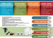 Sistema de alarma smart gsm, inalámbrico con batería de respaldo por cortes de luz