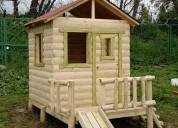 casas club para niños de madera