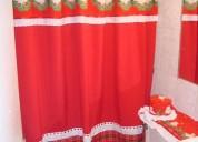Cortinas de baño diseño navideño nuevo modernos colores lindos