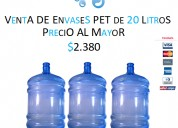 Venta de botellon pet recargable de 20 litros