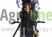 Motocicleta enduro 125cc azul, contactarse.
