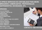 Se ofrecen servicos de contabilidad para empresas e independientes