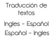Traducciones inglés español e inversa de alta calidad.traductora udec.