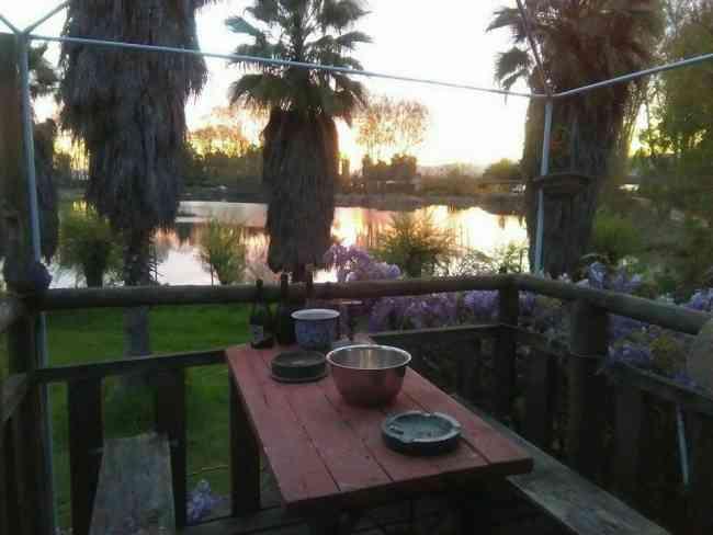 Parcela Lago Rapel con casas, restaurat, 120 m de orilla de lago