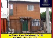 Se vende casa individual 2h-1b sector michaihue