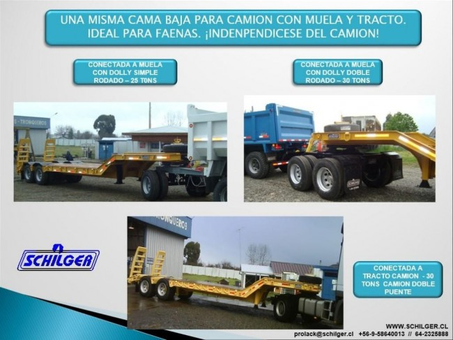 Semi Remolque Cama Baja 30 Toneladas