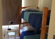 Departamento amoblado 2 dormitorios. metro santa lucia