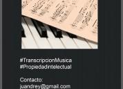Transcripción musical - propiedad intelectual