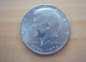 Moneda bicentenario kennedy medio dolar 1776-1976