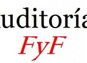 Auditorías fyf: auditorias,contabilidades, balances, conciliaciones bancarias, renta.