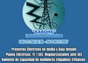 Aumento de potencia electrica chilectra cge eepa  22.265.5599 empalmes monofasicos y trifasicos