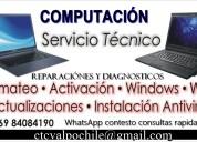 Servicio técnico computacional notebooks y pc´s