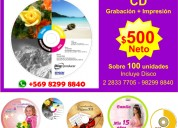 Duplicación impresión de cd y dvd copiado blu ray