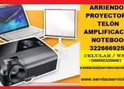 Arriendo telón proyector amplificación notebook pc