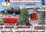 Tapiceria caupolican , vehiculos , living , sillas