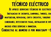 Técnico eléctrico a domicilio