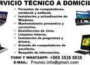 Servicio técnico computacional, formateo domicilio