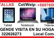 Pantalla televisor celular tablet notebook