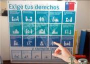 Letreros derechos del paciente reglamentario en santiago