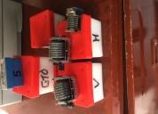 Numeradores litograficos  para gto