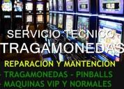 Tecnico maquinas tragamonedas todo santigo y regio