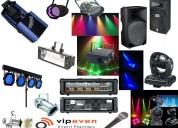 Arriendos equipos sonido iluminación equipamiento