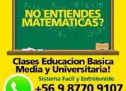 Clases matematicas entretenidas v region