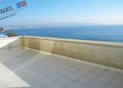 Departamento 175 m2 ,vista al mar, reÑaca // vd452