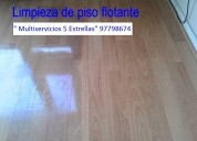 Limpieza de piso flotante 997798674 como nuevo