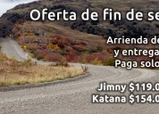 Arriendo fin de semana, 4x4 jimny-katana