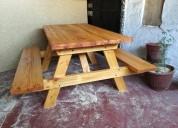 Mesas para terrazas tipo picnic