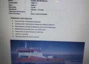 Vendo barco metalico para trabajos en mar 100 operativo al dia hualaihue en hualaihué