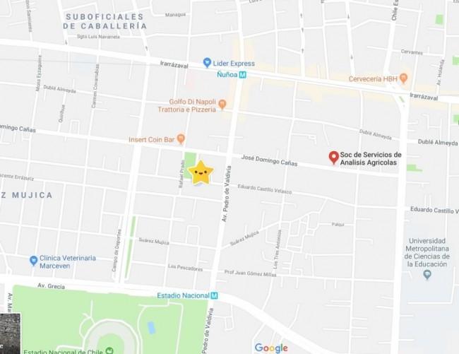 Estacionamiento a tres cuadras del metro Nunoa Santiago