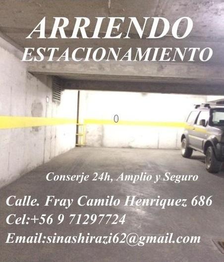 Estacionamientos en Arriendo en Fray Camilo Henriquez 686 Santiago