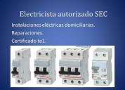 Electricista autorizado sec instalaciones electricas santiago