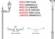 Postes metalicos galvanizados de iluminacion