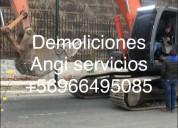 Retiró esconbros Ñuñoa demolición +56973677079