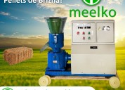 Maquina meelko para pellets con madera 230 mm eléc