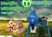Molino de martillos meelko 1,5 kw monofásico