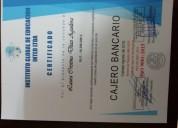 Curso certificado cajero bancario integral