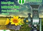 Molino triturador meelko de biomasa 360