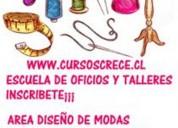 Curso de diseno de modas carteras vestidos de fiesta ropa de ninos accesorios de cuero en santiago