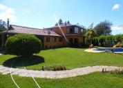 Hermosa parcela con casas piscina en 1 has en linares 7 dormitorios 400 m2